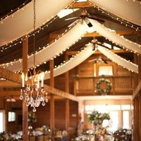 String Lights and Chandelier