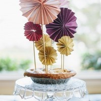 Accordion Fold Pinwheel Toppers
