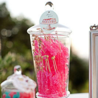 Pink Rock Candy Sticks