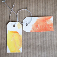 DIY: Watercolor Tags