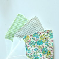 DIY: Fabric Lined Envelopes