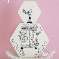 Hand Painted Bird Cage