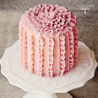 Vertical Ruffled Buttercream