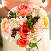 Flowers & Decor, Real Weddings, Wedding Style, orange, pink, Bridesmaid Bouquets, Fall Weddings, Classic Real Weddings, Fall Real Weddings, Garden Real Weddings, Classic Weddings, Garden Weddings, Fall Wedding Flowers & Decor, Garden Wedding Flowers & Decor, Peach, Tennessee, Romantic Real Weddings, Romantic Weddings, tennessee real weddings, tennessee weddings
