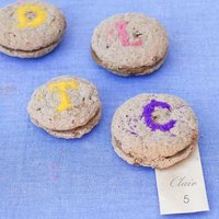 DIY: Glitter Monogram Macarons