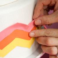 DIY: Trendy Chevron Wedding Cake