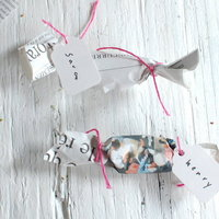 Newspaper Wrapped Candy Favors