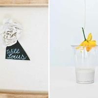 DIY: Plaster Flower Escort Cards
