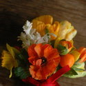 1375582535 thumb 1369929322 content diy orange yellow and white bridesmaid bouquets 1
