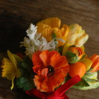 DIY: Orange Yellow and White Bridesmaid Bouquets