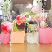 DIY: Pretty Painted Glass Centerpieces