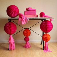 DIY: Honeycomb and Tissue Tassel Decor