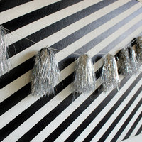DIY: Tinsel Tassel Garland