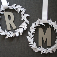 DIY: Modern Monogram Wreath