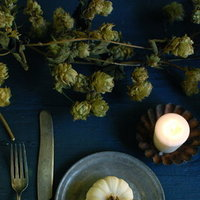 DIY: Fall Tabletop Hop Vine and Mini Pumpkins