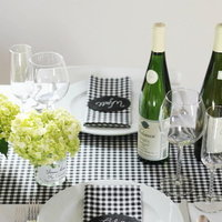 DIY: Homespun Black and White Tabletop