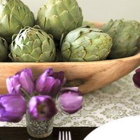 DIY: Subtly Spring Purple and Green Tabletop