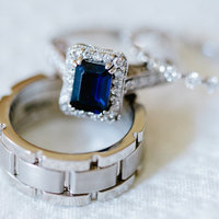 Something Blue Engagement Rings