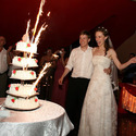 1375584675 thumb wedding cake sparkler fountains