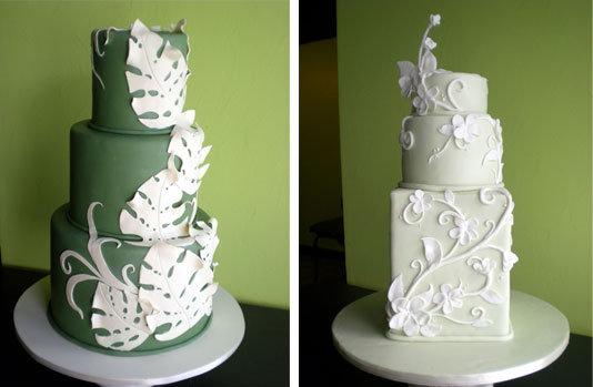 Wedding Cake From Hawaii Hawaiian themed wedding cake top two