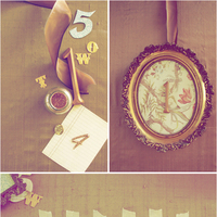 DIY Vintage Frame Table Numbers