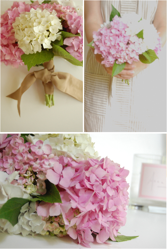 Diy hydrangea bouquet project wedding