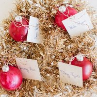 Painted Ornament Escort Cards