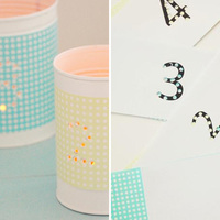 Do It Yourself: Punched Tin Table Numbers