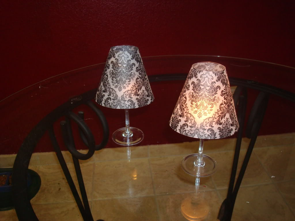 Damask vellum lampshade project wedding