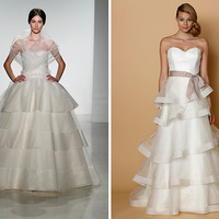Wedding Dress Trend: Tiered + Trimmed