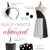 Black & White Whimsy for Bridesmaids