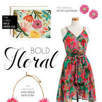 Bold Florals for Bridesmaids
