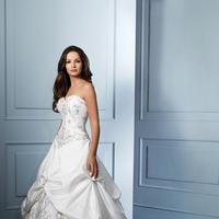 Wedding Dresses, Ball Gown Wedding Dresses, Fashion, Strapless, Strapless Wedding Dresses, Beading, Alfred angelo, Taffeta, Pick-ups, Ball gown, Beaded Wedding Dresses, taffeta wedding dresses