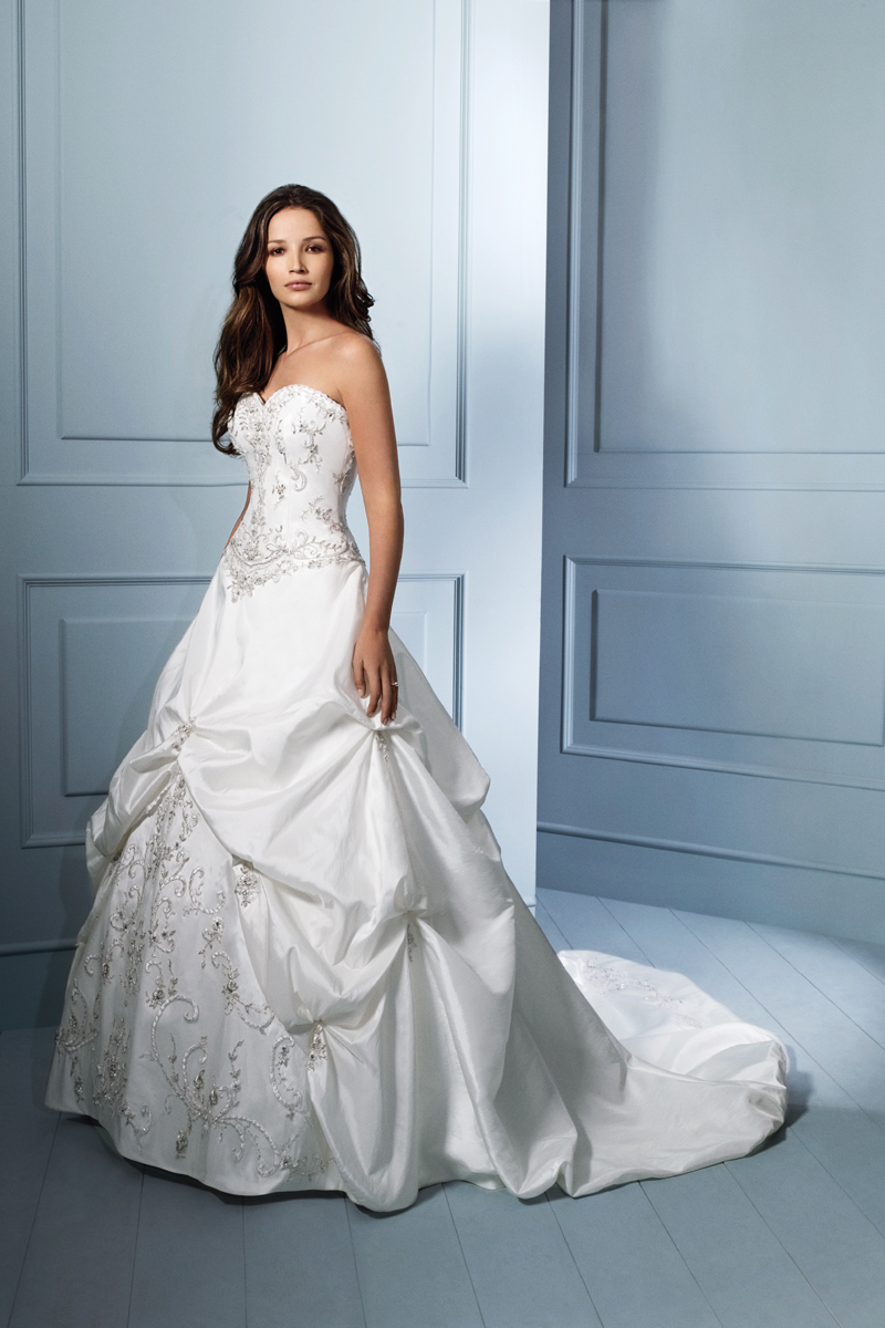 Wedding Dresses, Ball Gown Wedding Dresses, Fashion, Strapless, Strapless Wedding Dresses, Beading, Alfred angelo, Taffeta, Pick-ups, Ball gown, Beaded Wedding Dresses, taffeta wedding dresses
