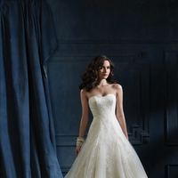 Wedding Dresses, Ball Gown Wedding Dresses, Lace Wedding Dresses, Fashion, Lace, Strapless, Strapless Wedding Dresses, Alfred angelo, Ball gown, semi-cathedral train, net overlay