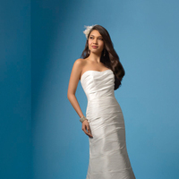 Wedding Dresses, Fashion, Classic, Strapless, Strapless Wedding Dresses, Alfred angelo, Taffeta, Ruching, taffeta wedding dresses, Classic Wedding Dresses