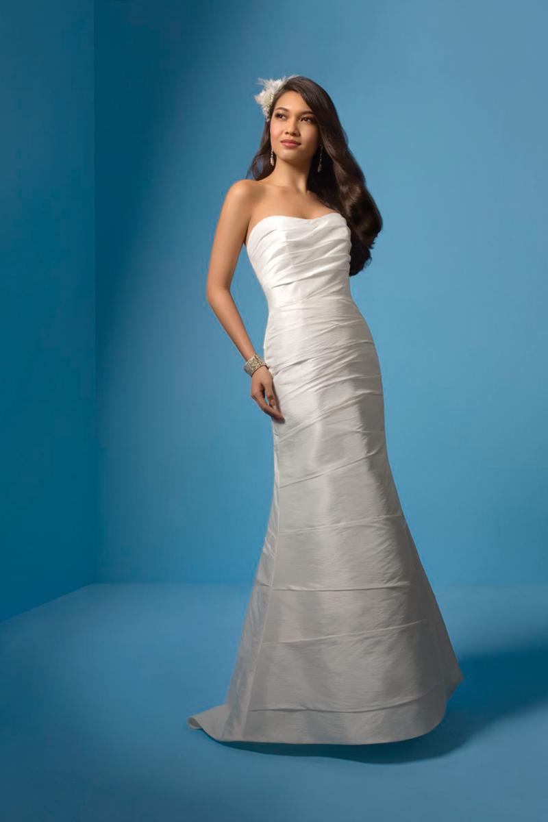 Wedding Dresses, Fashion, Classic, Strapless, Strapless Wedding Dresses, Alfred angelo, Taffeta, Ruching, taffeta wedding dresses, Classic Wedding Dresses