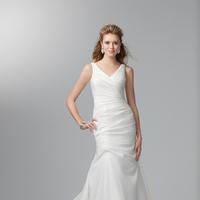 Wedding Dresses, Fashion, Classic, V-neck, V-neck Wedding Dresses, Alfred angelo, Taffeta, dropped waist, taffeta wedding dresses, Classic Wedding Dresses