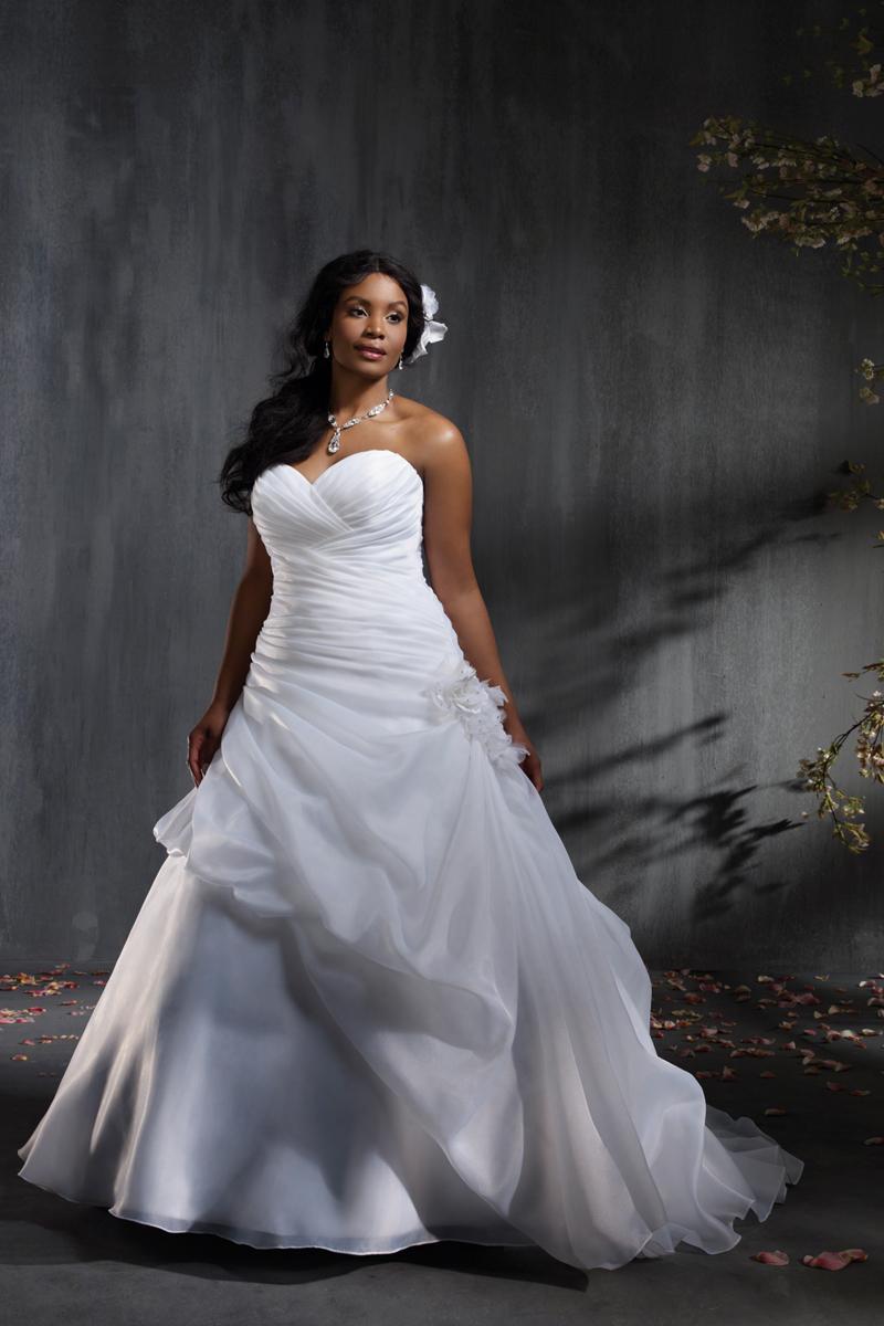 Wedding Dresses, Ball Gown Wedding Dresses, Fashion, Strapless, Strapless Wedding Dresses, Organza, Alfred angelo, Ball gown, pick-up skirt, organza wedding dresses