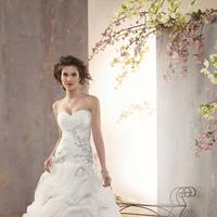 Wedding Dresses, Fashion, Strapless, Strapless Wedding Dresses, Beading, Alfred angelo, Taffeta, Pick-ups, Ruching, Beaded Wedding Dresses, taffeta wedding dresses