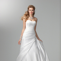 Wedding Dresses, Fashion, Classic, Strapless, Strapless Wedding Dresses, Satin, Alfred angelo, Ruching, Classic Wedding Dresses, satin wedding dresses