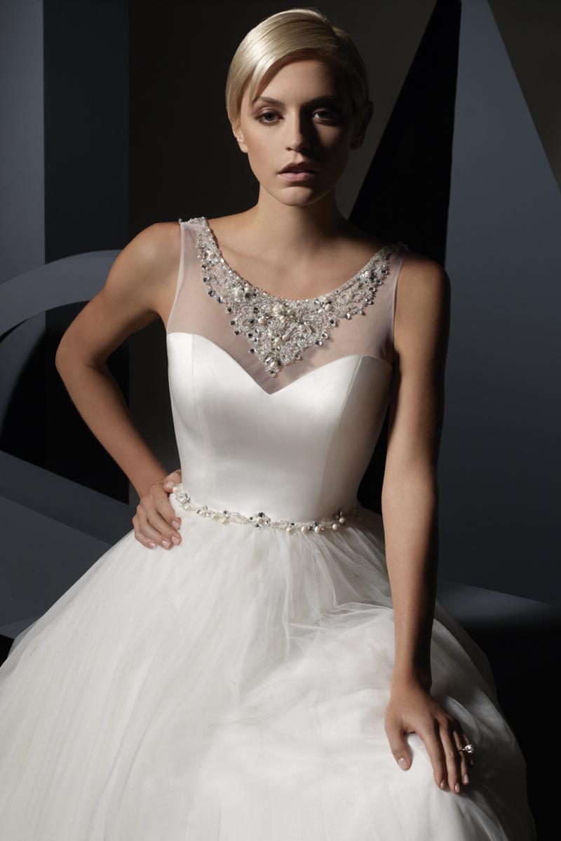Wedding Dresses, Fashion, Beading, Satin, Alfred angelo, illusion neckline, soft net, jewel neckline, Beaded Wedding Dresses, satin wedding dresses