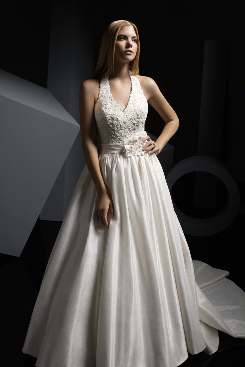 Wedding Dresses, Fashion, Beading, Halter, Satin, Alfred angelo, Taffeta, luxe taffeta, re-embroidered lace, halter wedding dresses, Beaded Wedding Dresses, taffeta wedding dresses, satin wedding dresses