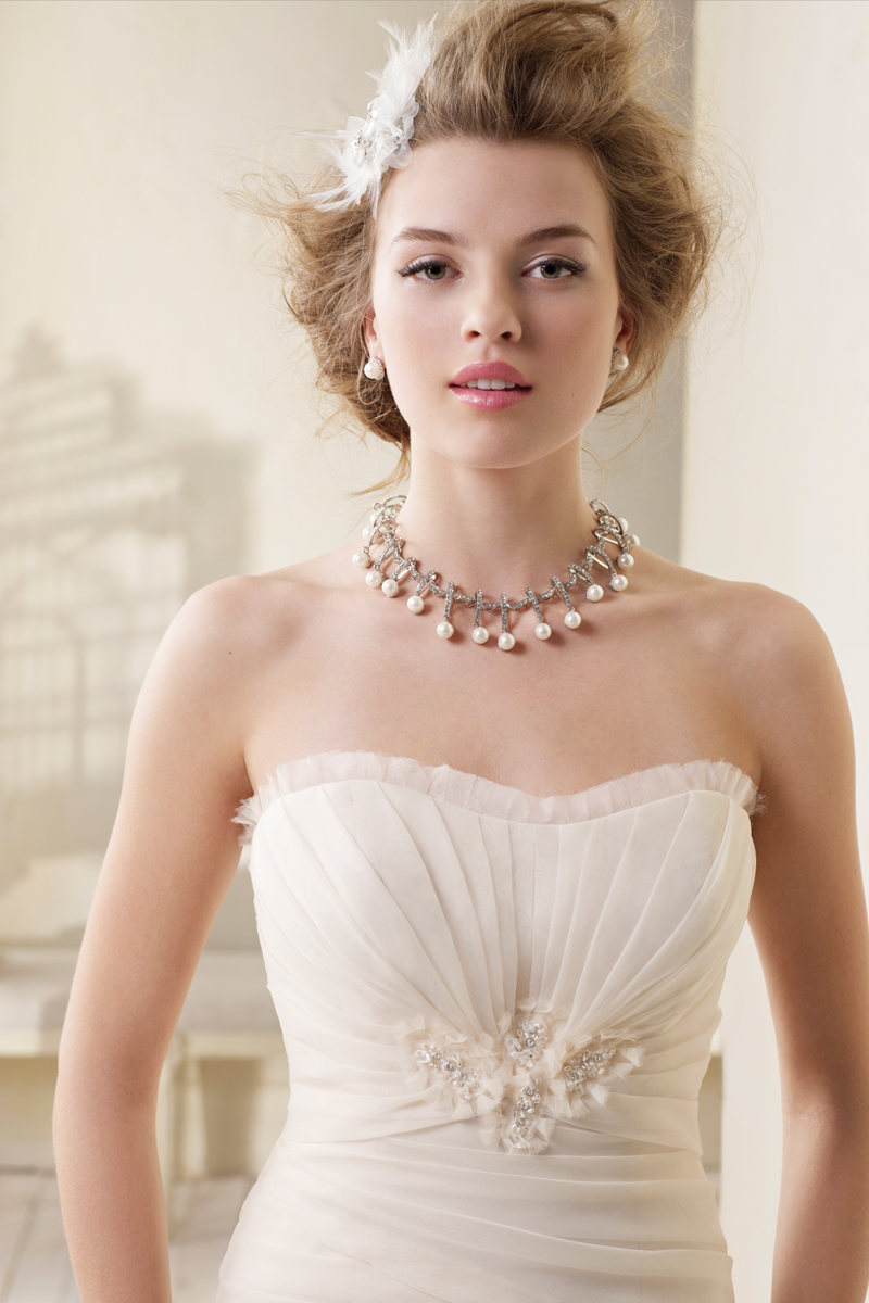 Wedding Dresses, Fashion, Strapless, Strapless Wedding Dresses, Alfred angelo, Taffeta, dropped waist, pleated bust, taffeta wedding dresses