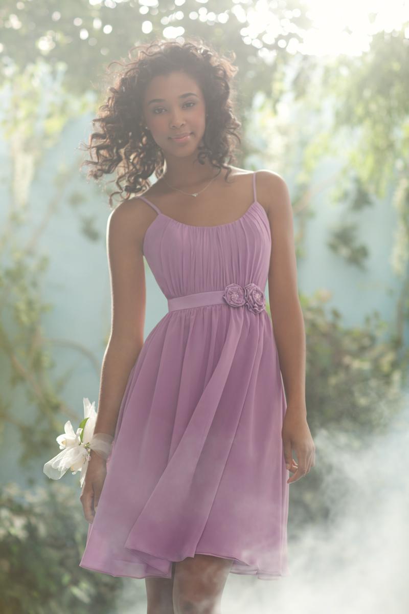 Bridesmaids, Bridesmaids Dresses, Fashion, Spaghetti straps, Satin, Chiffon, Alfred angelo, flower waistband, satin wedding dresses, Spahetti Strap Wedding Dresses, Chiffon Wedding Dresses