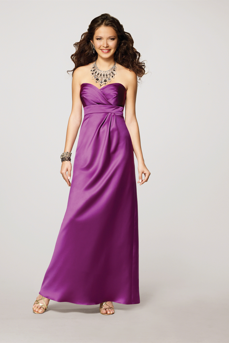 Bridesmaids, Bridesmaids Dresses, Fashion, purple, Strapless, Strapless Wedding Dresses, Alfred angelo, empire waist, floor length