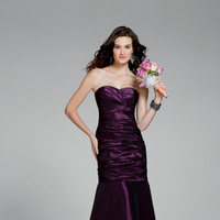 Bridesmaids, Bridesmaids Dresses, Fashion, purple, Strapless, Strapless Wedding Dresses, Fit and flare, Alfred angelo, dropped waist, luxe taffeta