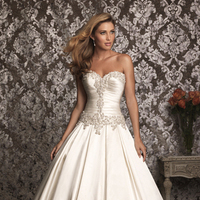 Wedding Dresses, Ball Gown Wedding Dresses, Fashion, Strapless, Strapless Wedding Dresses, Allure Bridals, Satin, Swarovski crystals, Ball gown, satin wedding dresses