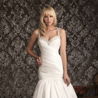 Wedding Dresses, Sweetheart Wedding Dresses, Fashion, Sweetheart, Fit and flare, Allure Bridals, Swarovski crystals, Chapel, Taffeta, taffeta wedding dresses