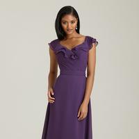 Bridesmaids, Bridesmaids Dresses, Ruffled Wedding Dresses, Fashion, Cap sleeves, Allure Bridals, Ruffles, Ruching